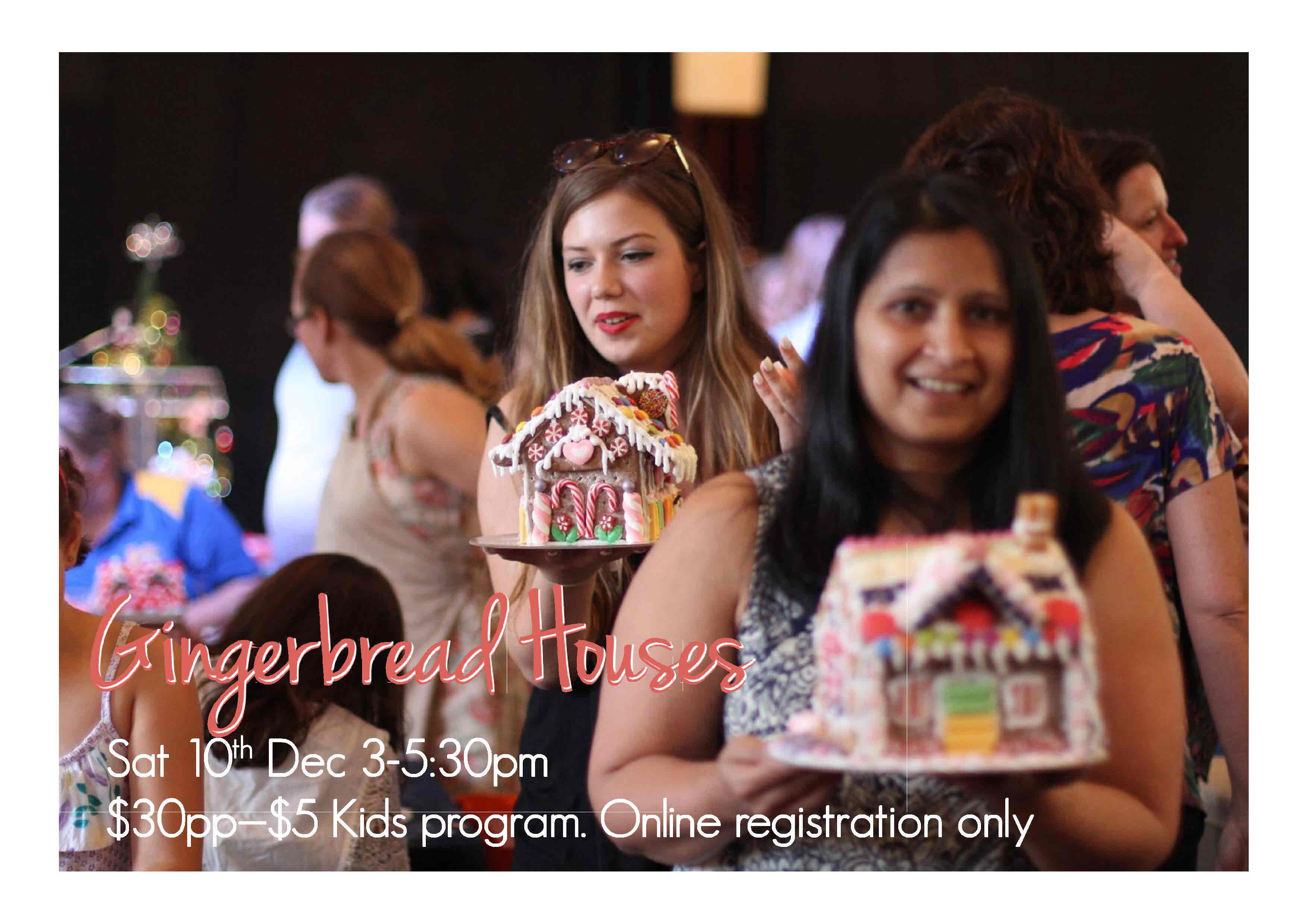 <p>Come along and decorate a traditional Christmas Gingerbread House and find out more about the real meaning of Christmas! When: Saturday 10th Dec, 3 – 5.30pm Where: North Ryde Anglican Church Hall, Cox's Rd. Cost: $30 (includes house kit, lolly decorations, wrapping, afternoon tea) What to bring: Apron Bring along [&hellip;]</p>